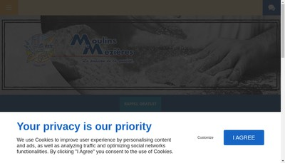 Site internet de Moulins de Mezieres SA