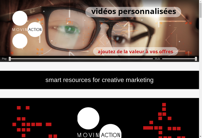 Capture d'écran du site de Movinaction