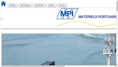 Site internet de Materiels Portuaires et Industriels
