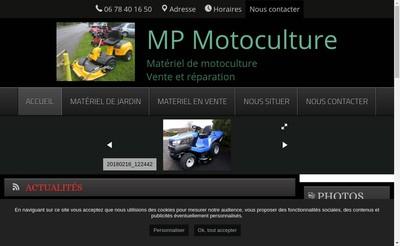 Site internet de Mp Motoculture