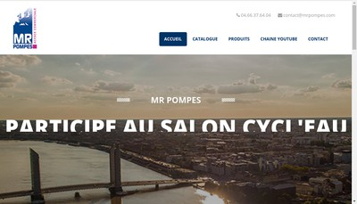Site internet de Mr Pompes