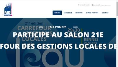 Site internet de Mr Pompes