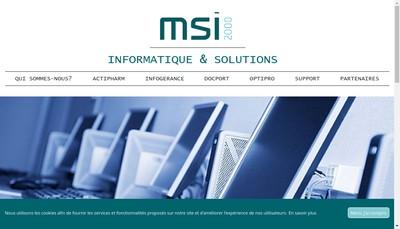 Site internet de Msi 2000