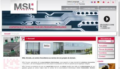 Site internet de Msl Circuits