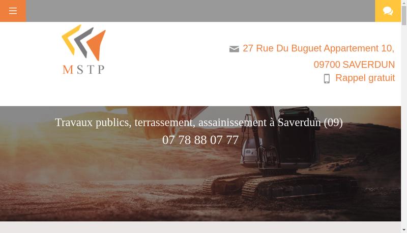 Capture d'écran du site de MSTP