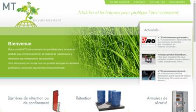 Capture d'écran du site de Mt Environnement