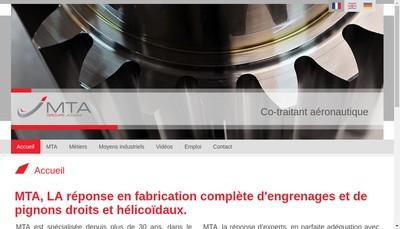 Site internet de Mta Industrie