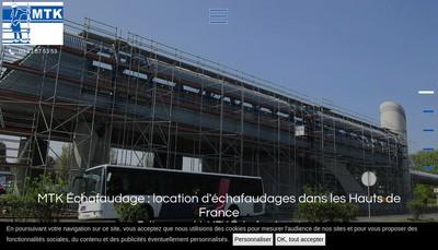 Site internet de Mtk Echafaudage