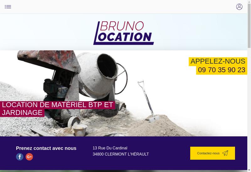 Capture d'écran du site de SARL Clermont Location