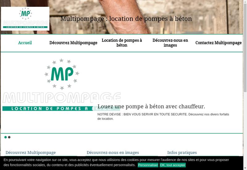 Capture d'écran du site de Multipompage