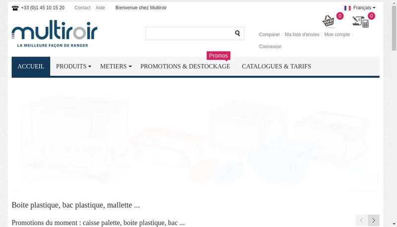 Capture d'écran du site de Multiroir Controlec Mdose Multiroir
