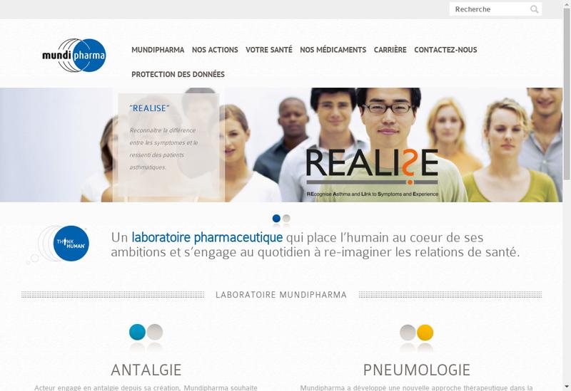 Capture d'écran du site de Mundipharma