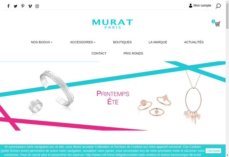 Capture d'écran du site de Bhm Store