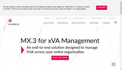 Capture d'écran du site de Murex