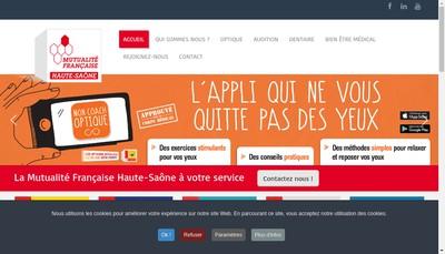 Site internet de Mutualite Francaise Haute Saone