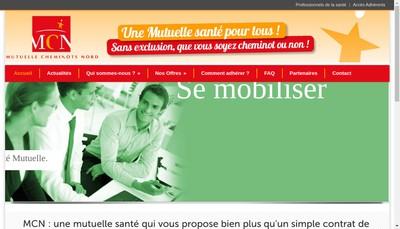 Site internet de Mutuelle Cheminots Nord