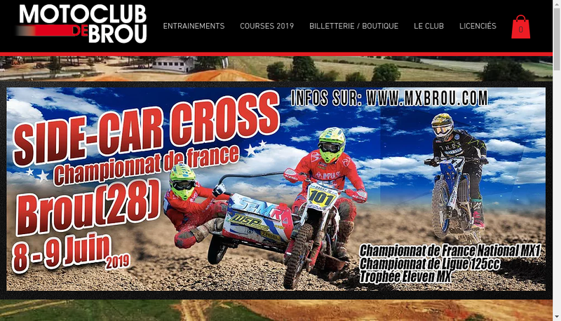 Capture d'écran du site de Moto-Club de Brou