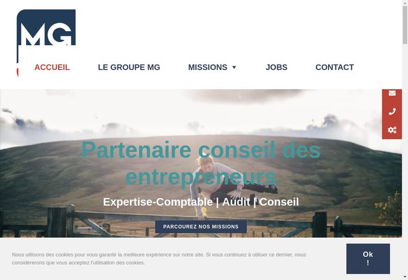 Capture d'écran du site de Mg Oisans