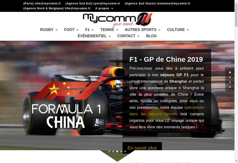 Capture d'écran du site de Mycomm
