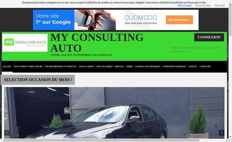 Site internet de My Consulting Auto