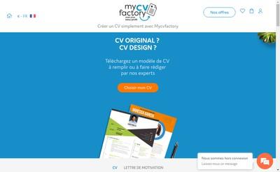 Site internet de Mycvfactory
