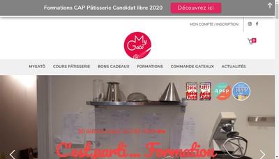 Site internet de Mygato Laboratoire Gourmand Cours Gourmand