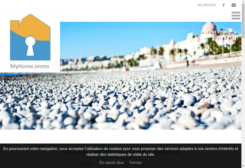 Capture d'écran du site de MyHome.immo
