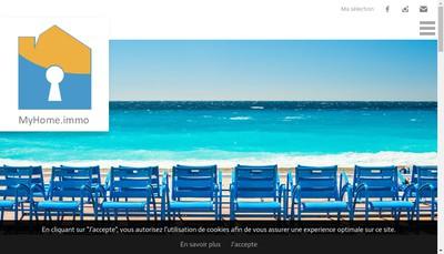 Site internet de MyHome.immo