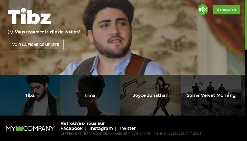 Capture d'écran du site de My Major Company V