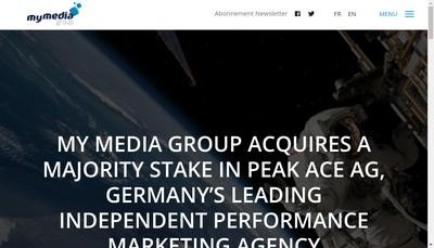 Site internet de My Media Group