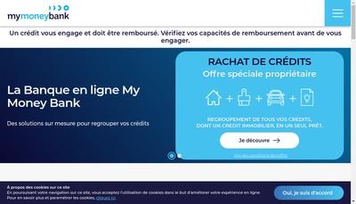 Site internet de My Money Bank