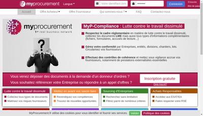 Site internet de My Procurement