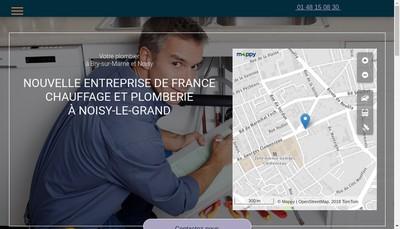 Site internet de Nouvelle Entreprise de France