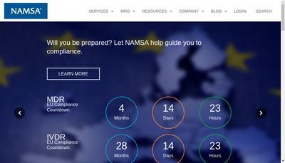 Site internet de Biomatech Namsa