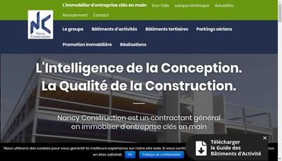 Site internet de Nancy Construction