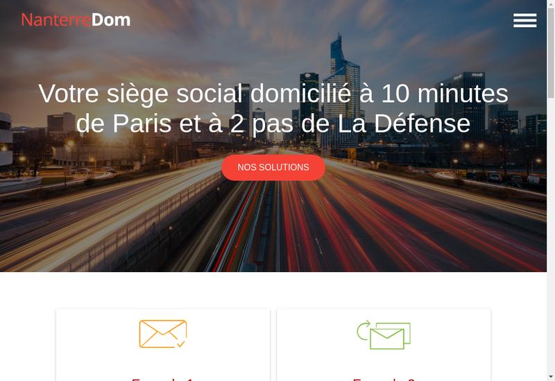 Capture d'écran du site de Nanterre Dom