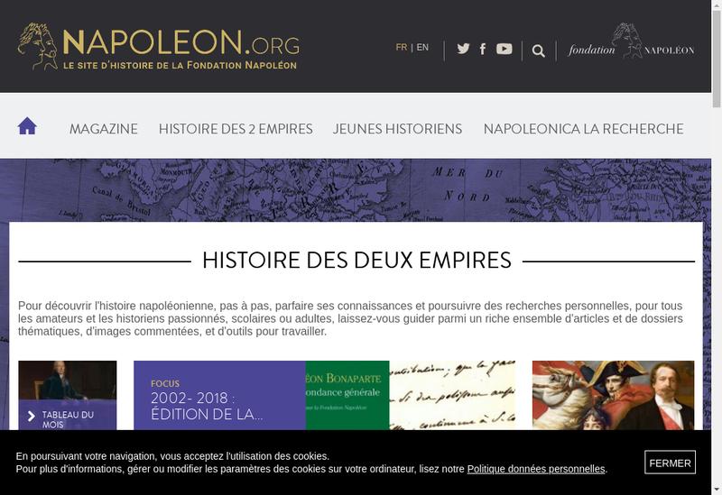Capture d'écran du site de Cinema Napoleon