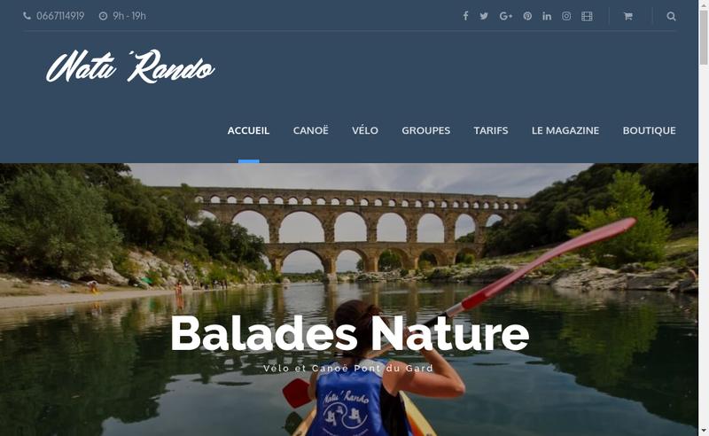 Capture d'écran du site de Natu Rando