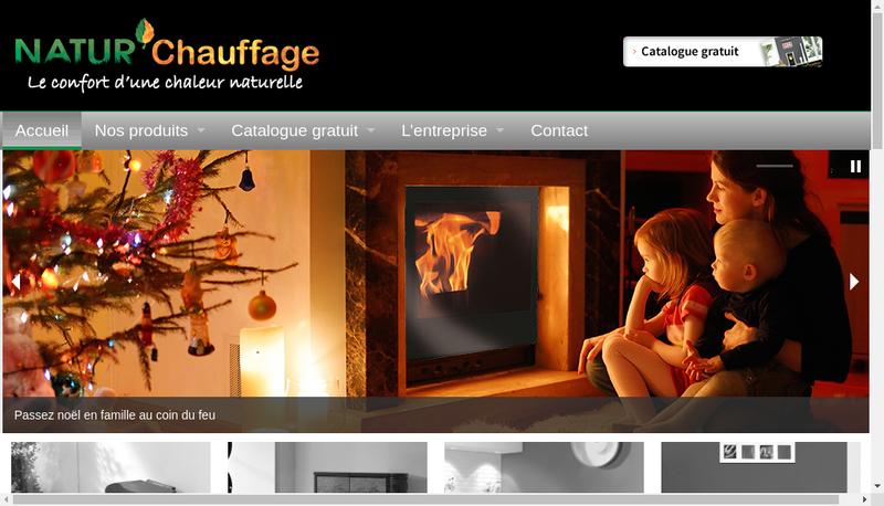 Capture d'écran du site de Natur Chauffage