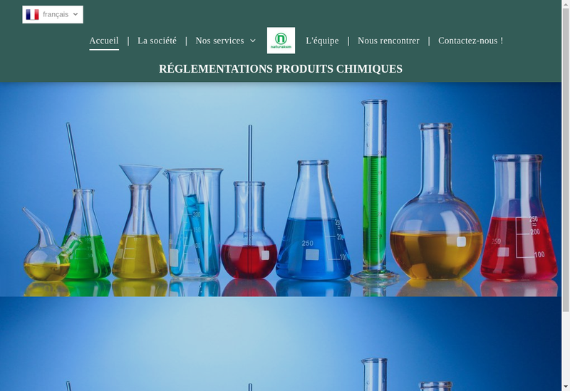 Capture d'écran du site de Naturakem