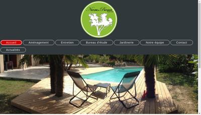 Capture d'écran du site de Nature et Paysage