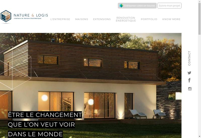 Capture d'écran du site de Nature et Logis