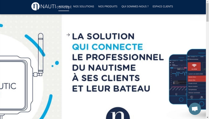 Capture d'écran du site de Nauticoncept