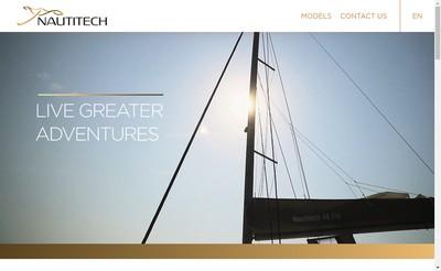 Site internet de Nautitech Catamarans