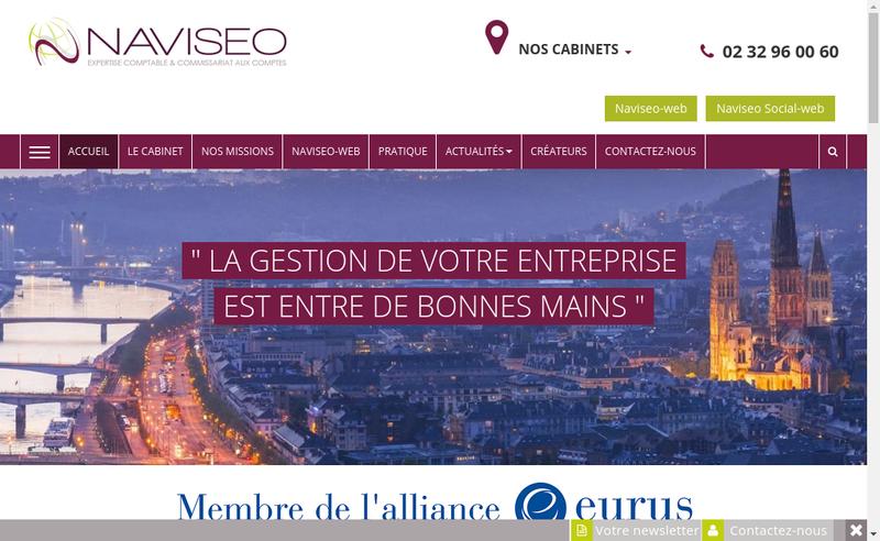 Capture d'écran du site de Naviseo