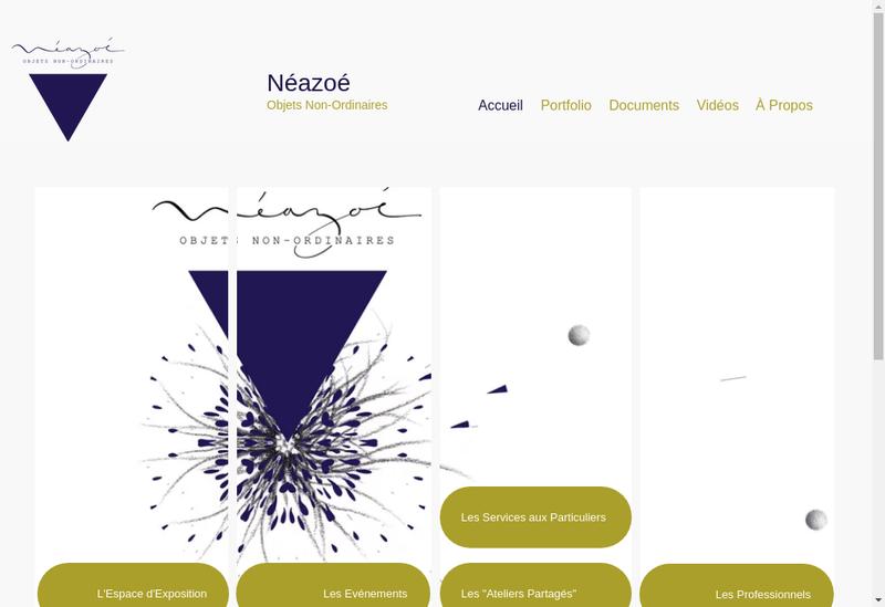 Capture d'écran du site de Neazoe