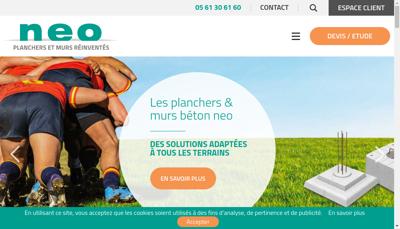 Capture d'écran du site de NEO