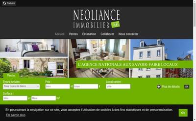 Site internet de Neoliance Immobilier