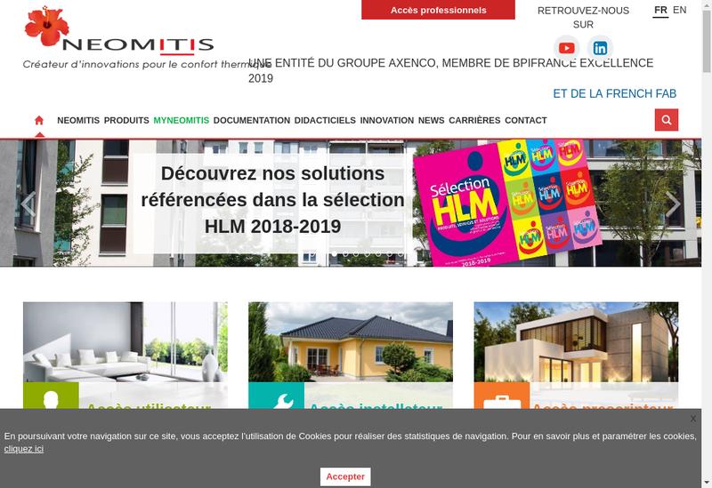Capture d'écran du site de Neomitis