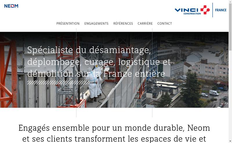 Capture d'écran du site de Neom